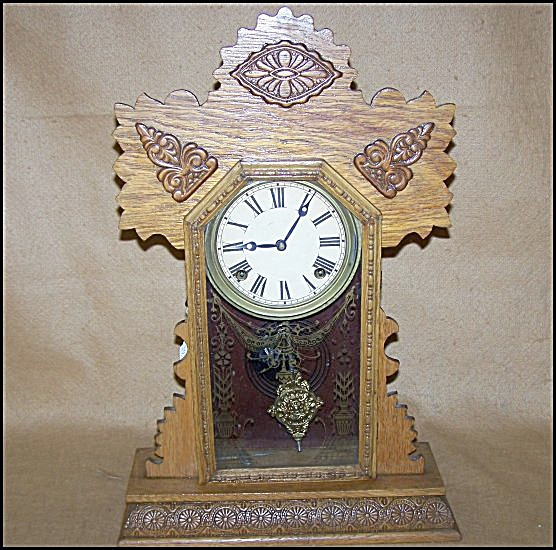 Antique Early 1900's Sessions Gingerbread Clock
