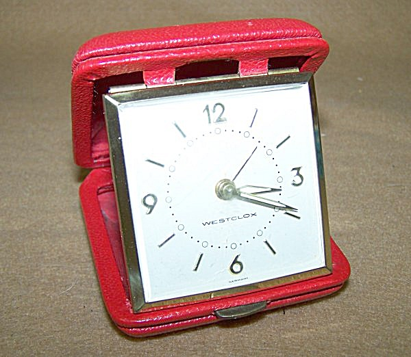 Vintage Westclock Ruby Red Travel Alarm W/initials