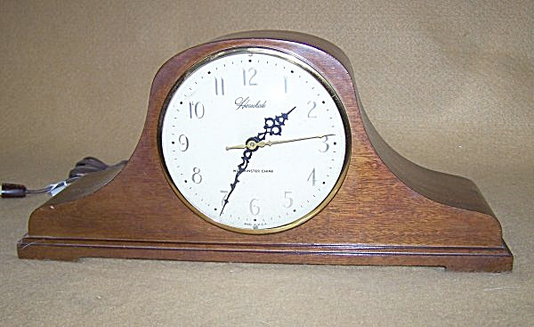 Vintage Herschede Electric Chiming Mantel Clock 2101