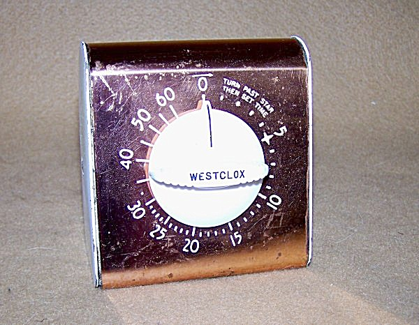 Vintage Westclox Copper Kitchen Timer 2153