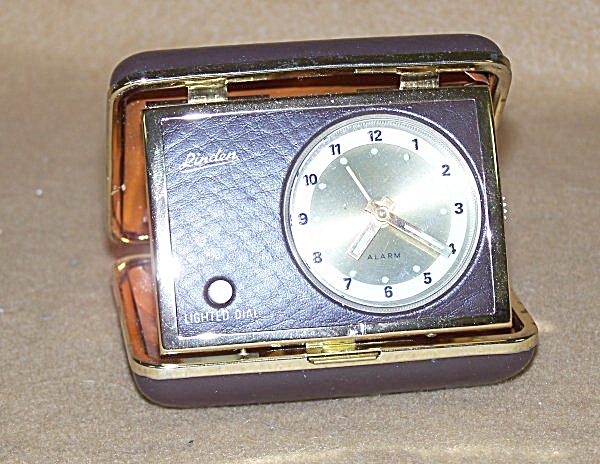 Vintage Linden Lighted Rectangular Travel Alarm