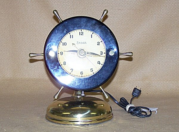 Collectible 1946 Ensign Ships Wheel Electric Clock
