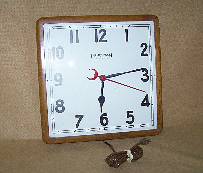 Vintage 1950's Ingraham Electric Large Wall Clock