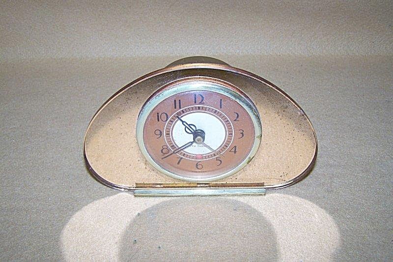 Vintage 1935 Seth Thomas Copper Mirror Clock 2704