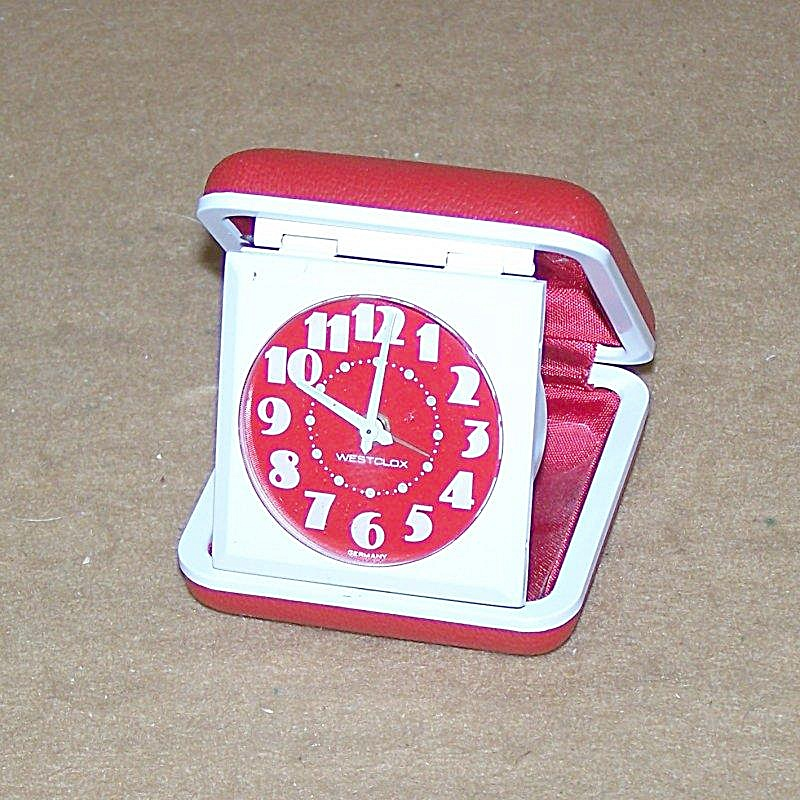 Vintage Westclock Ruby Red Travel Alarm