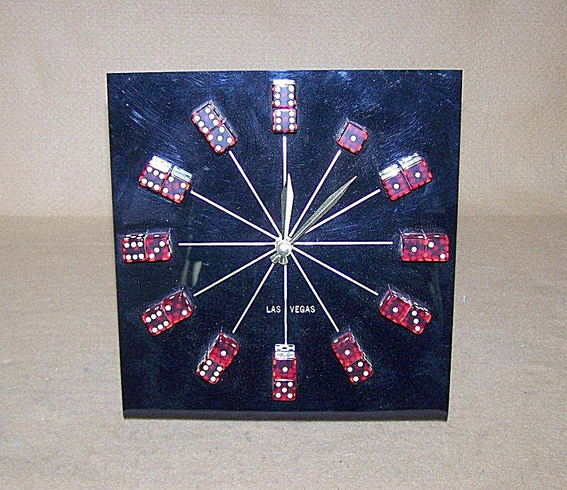 Las Vegas Red Dice Clock