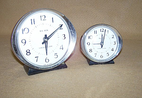 Westclox Style 8 Big Ben & Baby Ben Matched Set Alarms