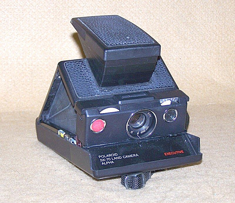 Collectible Black Leather Polaroid Sx-70 Land Camera