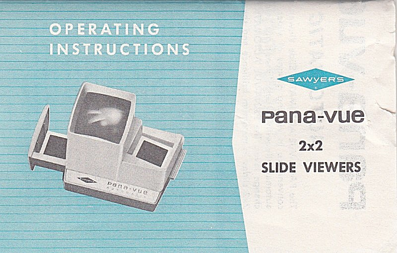 Pana-vue 2x2 Slide Viewers - Downloadable E-manual