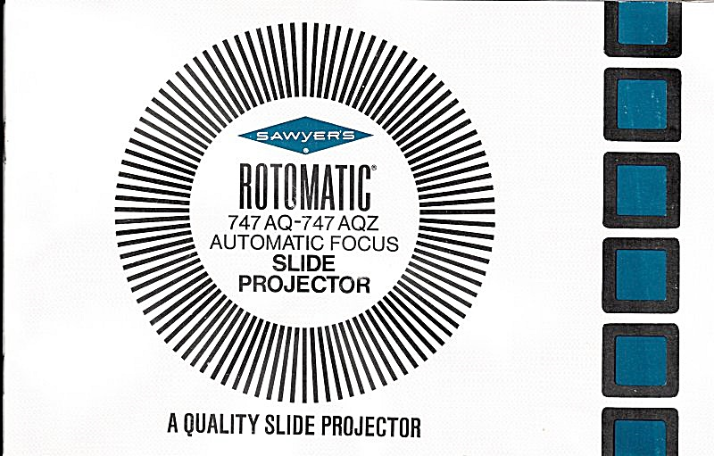 Sawyers Rotomatic Slide Projector-downloadable E-manual