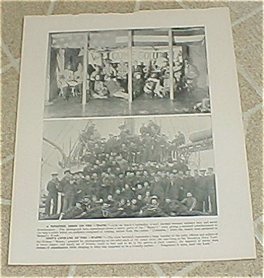 1898 Uss Maine Minstrel Show & Ship's Company Prints, Target Practice