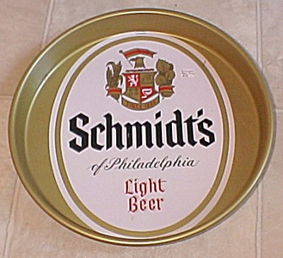 Schmidt's Of Philadelphia Light Beer Tray