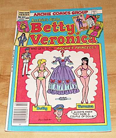 Archie Series: Archie's Girls Betty And Veronica Comic Book No. 322