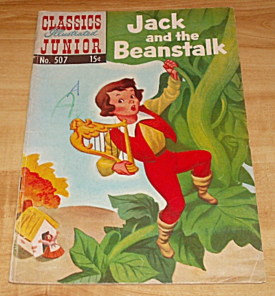 Classics Illustrated Jr: Jack And The Beanstalk Comic Book No. 507