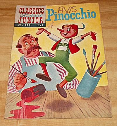 Classics Illustrated Junior: Pinocchio Comic Book No. 513