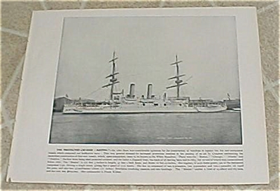 1898 Naval Ship Print, Uss Boston, Uss San Francisco, U.s. Navy