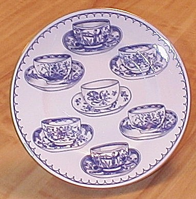 1995 Royal Worcester Cup Of Cups Salad Dessert Plates Blue/white