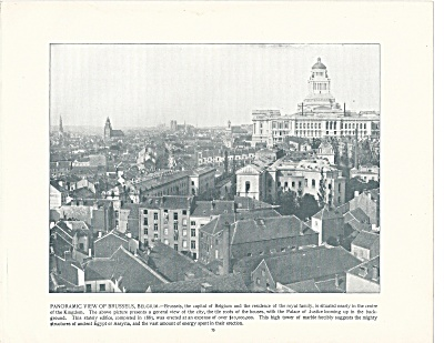 Brussels, Belgium, 1892 Shepp's Photographs Original Book Page