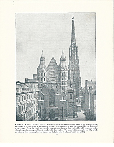 Church Of St. Stephen, Vienna, Austria 1892 Shepp's Photos Book Page