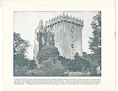 Blarney Castle, Ireland 1892 Shepp's Photographs Original Book Page