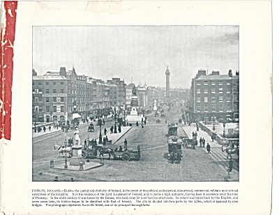 Sackville Street, Dublin, Ireland 1892 Shepp's Photographs Book Page