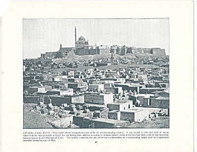 Citadel, Cairo, Egypt 1892 Shepp's Photographs Original Book Page