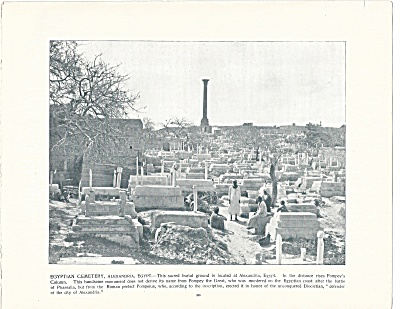 Cemetery, Alexandria, Egypt 1892 Shepp's Photographs Book Page