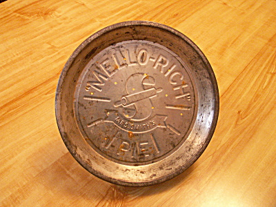 Vintage Mrs. Smith's Mello-rich Pies Tin Pie Plate B