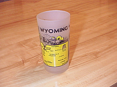 1940s/1950s Souvenir State Glass Wyoming, Hazel Atlas Glass Co.