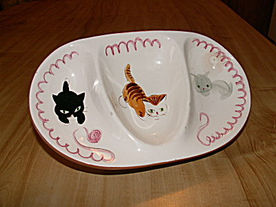 1957 Stangl Pottery Kiddieware Kitten Capers #3919 Children's Dish