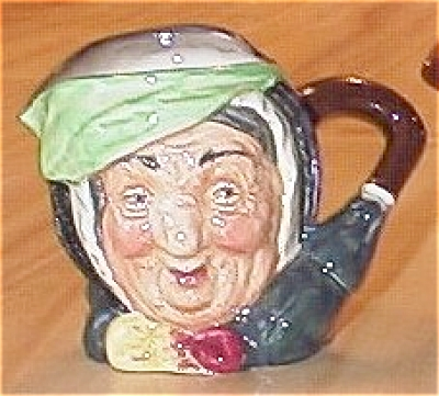 Small Royal Doulton China Toby Mug Character Jug Sairey Gamp
