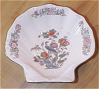 Wedgwood China Kutani Crane Shell Shaped Bowl Dish