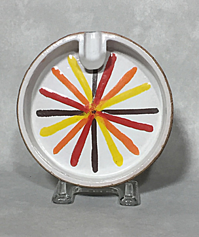 Bitossi Italy Midcentury Cork Pop Art Ashtray