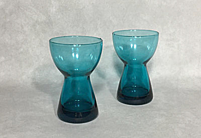 Morgantown Barton Peacock Blue Pair Candleholders