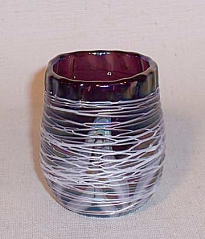 Toothpick Holder: Crider 1977 White Threaded
