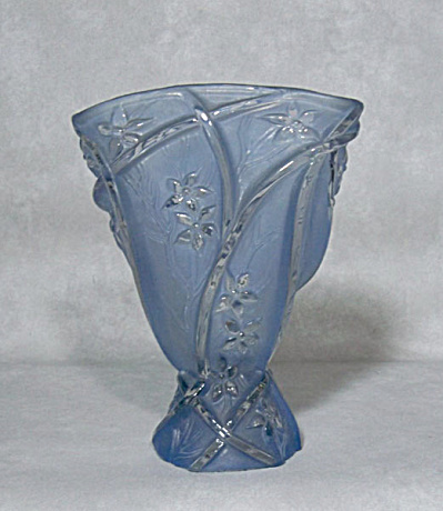 Consolidated Glass Line 700 Blue Wash Vase