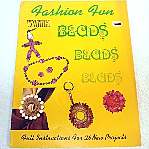 Fashion Fun With Beads 1972 Jewelry Craft Pattern Booklet