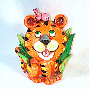 Napcoware Retro 60s Cute Tiger Coin Bank