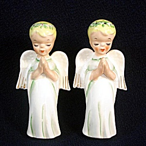 Lefton Praying Ponytail Angel Candle Climbers Or Huggers