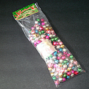 Beaded Glass Christmas Garland 9 Feet Original Package Multi Color