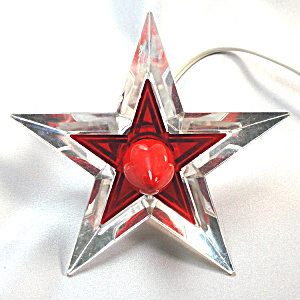 Noma Glo Star Lighted Lucite Christmas Tree Topper