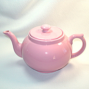 Brecon English Pink Pottery Teapot