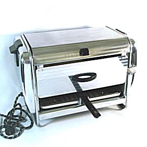 1952 Chrome Broil Quik Chef Broiler Grill Rotisserie Appliance
