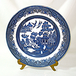 Churchill England Blue Willow Dinner Plate, 3 Available