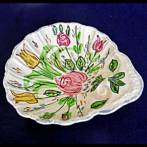 Blue Ridge Nove Rose Shell Shaped Bowl
