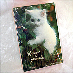 Believe In Yourself White Kitten Springbok 100 Piece Jigsaw Puzzle Sealed