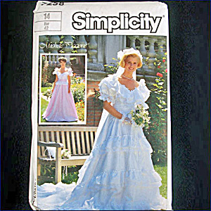 Simplicity Michele Piccione Bridal Gown Sewing Pattern Size 14 Uncut
