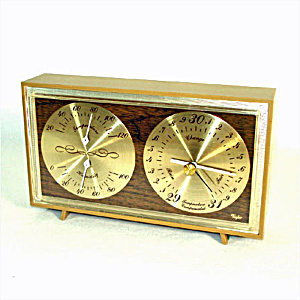 Taylor Desktop Barometer With Temperature And Humidity Gauges
