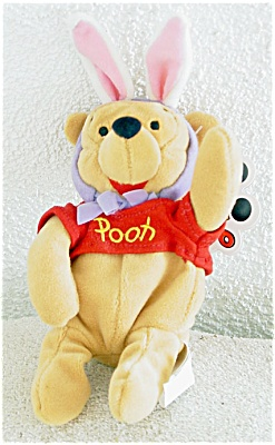 1998 Disneyland Easter Pooh Bean Bag Mousketoys