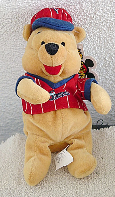 Baseball Pooh Disney Bean Bag Plush C. 1999